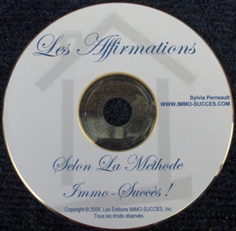 Le CD Les Affirmations IMMO-SUCCES !